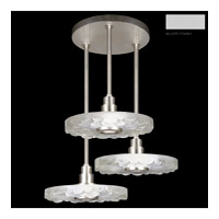 Fine Art Lamps Crystal Bakehouse 3 Light Pendant in Silver with Polished Block of Crystal River Stones 823640-24ST