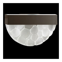 Fine Art Lamps Crystal Bakehouse 2 Light Sconce in Bronze with Polished Block of Crystal River Stones 824550-14ST