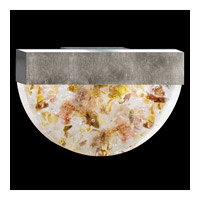 Fine Art Lamps Crystal Bakehouse 2 Light Sconce in Silver Leaf with Polished Block of Carnelian & Citrine Crystal Shards 824550-31ST