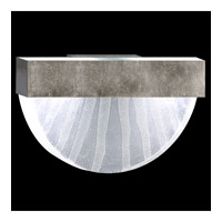 Fine Art Lamps Crystal Bakehouse 2 Light Sconce in Silver Leaf with Polished Block of Crystal Shards 824550-33ST