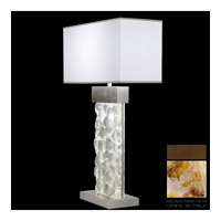 Fine Art Lamps Crystal Bakehouse 2 Light Table Lamp in Bronze with Polished Block of Carnelian & Citrine Crystal Shards 824610-11ST
