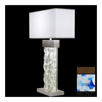Fine Art Lamps Crystal Bakehouse 2 Light Table Lamp in Bronze with Polished Block of Cobalt & Aqua Crystal Shards 824610-12ST