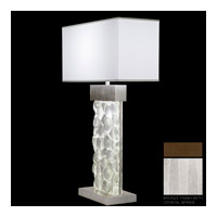 Fine Art Lamps Crystal Bakehouse 2 Light Table Lamp in Bronze with Polished Block of Crystal Shards 824610-13ST