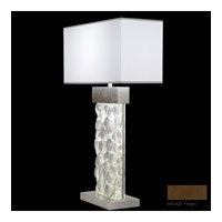 Fine Art Lamps Crystal Bakehouse 2 Light Table Lamp in Bronze with Polished Block of Crystal River Stones 824610-14ST photo thumbnail