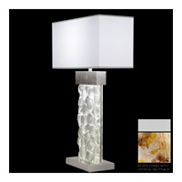 Fine Art Lamps Crystal Bakehouse 2 Light Table Lamp in Silver with Polished Block of Carnelian & Citrine Crystal Shards 824610-21ST