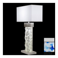 Fine Art Lamps Crystal Bakehouse 2 Light Table Lamp in Silver with Polished Block of Cobalt & Aqua Crystal Shards 824610-22ST