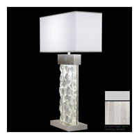 Fine Art Lamps Crystal Bakehouse 2 Light Table Lamp in Silver with Polished Block of Crystal Shards 824610-23ST