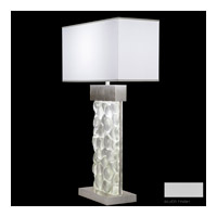 Fine Art Lamps Crystal Bakehouse 2 Light Table Lamp in Silver with Polished Block of Crystal River Stones 824610-24ST
