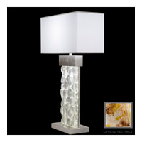 Fine Art Lamps Crystal Bakehouse 2 Light Table Lamp in Silver Leaf with Polished Block of Carnelian & Citrine Crystal Shards 824610-31ST