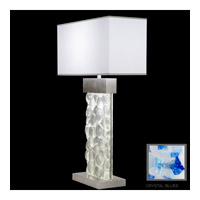 Fine Art Lamps Crystal Bakehouse 2 Light Table Lamp in Silver Leaf with Polished Block of Cobalt & Aqua Crystal Shards 824610-32ST