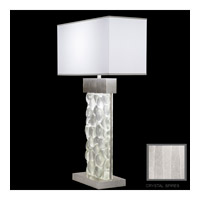 Fine Art Lamps Crystal Bakehouse 2 Light Table Lamp in Silver Leaf with Polished Block of Crystal Shards 824610-33ST