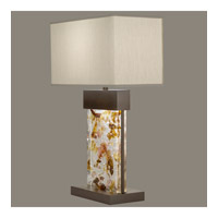 Fine Art Lamps Crystal Bakehouse 2 Light Table Lamp in Bronze with Polished Block of Carnelian & Citrine Crystal Shards 824810-11ST