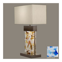 Fine Art Lamps Crystal Bakehouse 2 Light Table Lamp in Bronze with Polished Block of Cobalt & Aqua Crystal Shards 824810-12ST