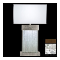 Fine Art Lamps Crystal Bakehouse 2 Light Table Lamp in Bronze with Polished Block of Crystal River Stones 824810-14ST