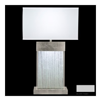 Fine Art Lamps Crystal Bakehouse 2 Light Table Lamp in Silver with Polished Block of Crystal Shards 824810-23ST