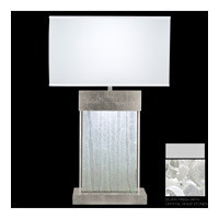 Fine Art Lamps Crystal Bakehouse 2 Light Table Lamp in Silver with Polished Block of Crystal River Stones 824810-24ST