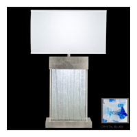 Fine Art Lamps Crystal Bakehouse 2 Light Table Lamp in Silver Leaf with Polished Block of Cobalt & Aqua Crystal Shards 824810-32ST