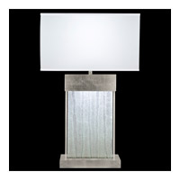 Fine Art Lamps Crystal Bakehouse 2 Light Table Lamp in Silver Leaf with Polished Block of Crystal Shards 824810-33ST