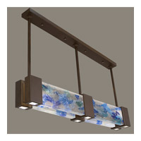 Fine Art Lamps Crystal Bakehouse 6 Light Pendant in Bronze with Polished Block of Cobalt & Aqua Crystal Shards 825040-12ST
