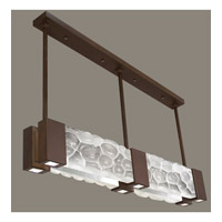 Fine Art Lamps Crystal Bakehouse 6 Light Pendant in Bronze with Polished Block of Crystal River Stones 825040-14ST