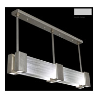 Crystal Bakehouse 6 Light 55 inch Silver Pendant Ceiling Light