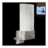 Fine Art Lamps Crystal Bakehouse 1 Light Sconce in Bronze with Polished Block of Cobalt & Aqua Crystal Shards 825250-12ST