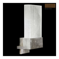 Fine Art Lamps Crystal Bakehouse 1 Light Sconce in Bronze with Polished Block of Crystal Shards 825250-13ST