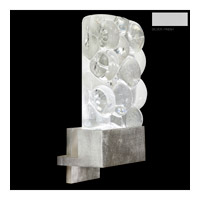 Fine Art Lamps Crystal Bakehouse 1 Light Sconce in Silver with Polished Block of Crystal River Stones 825250-24ST