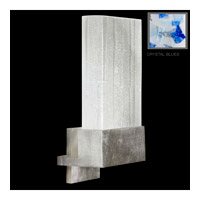 Fine Art Lamps Crystal Bakehouse 1 Light Sconce in Silver Leaf with Polished Block of Cobalt & Aqua Crystal Shards 825250-32ST