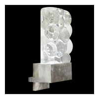 Fine Art Lamps Crystal Bakehouse 1 Light Sconce in Silver Leaf with Polished Block of Crystal River Stones 825250-34ST