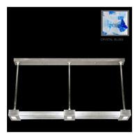 Fine Art Lamps Crystal Bakehouse 3 Light Pendant in Silver Leaf with Polished Block of Cobalt & Aqua Crystal Shards 826840-32ST