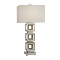 Recollections 34 inch 150 watt Platinized Silver Leaf Table Lamp Portable Light