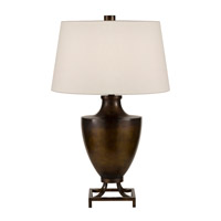 Recollections 31 inch 150 watt Platinized Silver Leaf Table Lamp Portable Light
