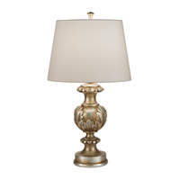 Recollections 29 inch 150 watt Antiqued Gold-Stained Silver Leaf Table Lamp Portable Light
