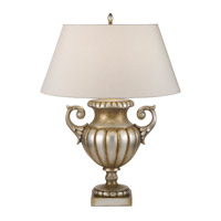 Recollections 33 inch 150 watt Antiqued Gold-Stained Silver Leaf Table Lamp Portable Light