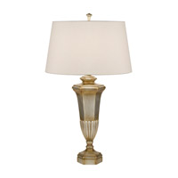 Recollections 34 inch 150 watt Antiqued Gold-Stained Silver Leaf Table Lamp Portable Light