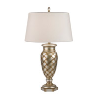 Fine Art Lamps Recollections 1 Light Table Lamp in Antiqued Gold-Stained Silver Leaf 829010ST
