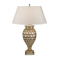 Fine Art Lamps Recollections 1 Light Table Lamp in Platinized Silver Leaf 829210-2ST