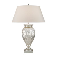 Recollections 35 inch 150 watt Antiqued Gold-Stained Silver Leaf Table Lamp Portable Light