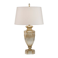 Fine Art Lamps Recollections 1 Light Table Lamp in Antiqued Gold-Stained Silver Leaf 829410ST