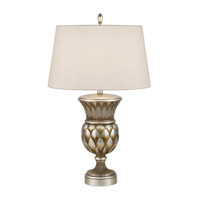 Recollections 32 inch 150 watt Antiqued Gold-Stained Silver Leaf Table Lamp Portable Light
