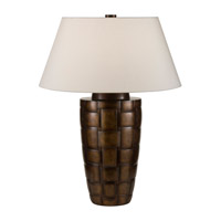 Recollections 32 inch 150 watt Platinized Silver Leaf Table Lamp Portable Light