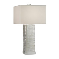 Fine Art Lamps Recollections 1 Light Table Lamp in Platinized Silver Leaf 836310ST