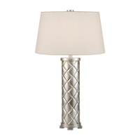Recollections 33 inch 150 watt Platinized Silver Leaf Table Lamp Portable Light