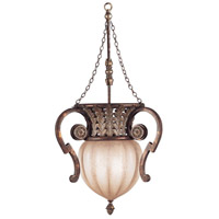 Fine Art Lamps 836542ST Stile Bellagio 2 Light 18 inch Tortoise Leather Crackle Pendant Ceiling Light
