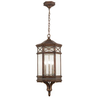 Fine Art Lamps Holland Park 3 Light Outdoor Hanging Lantern in Warm Antique Bronze 837082ST