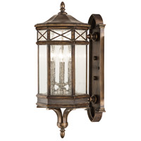 Fine Art Lamps Holland Park 3 Light Outdoor Wall Mount in Warm Antique Bronze 837481ST