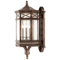 Fine Art Lamps Holland Park 3 Light Outdoor Wall Mount in Warm Antique Bronze 837681ST