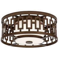 River Oaks 3 Light 18 inch Bronze Outdoor Flush Mount