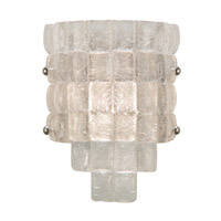 Fine Art Lamps Constructivism 1 Light Sconce in Silver Leaf 840450ST